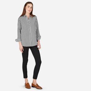 Everlane relaxed silk shirt in bold stripe